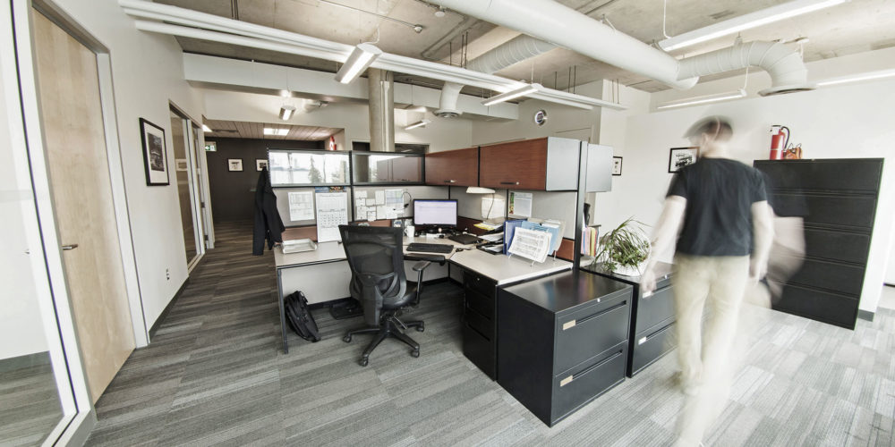 Large office space with desks