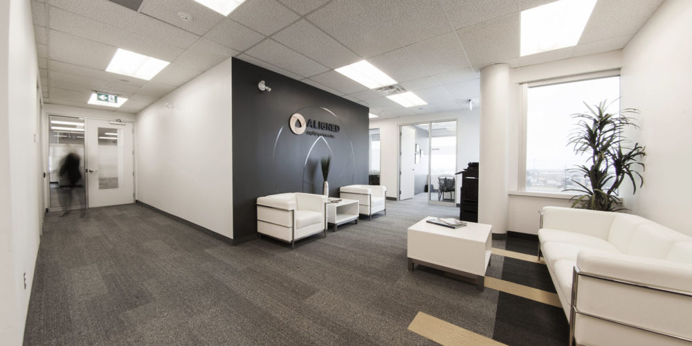 Spacious office lounge area