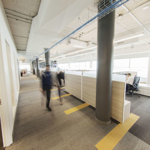 Large office open walkway