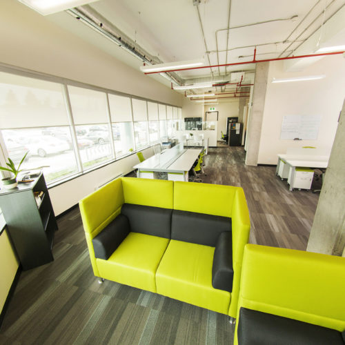 Large office common area